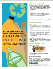 Mill Valley Refuse Apartment Recycling Flyer in Spanish