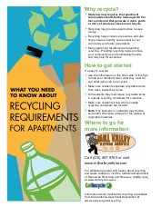 Mill Valley Refuse Apartment Recycling Flyer