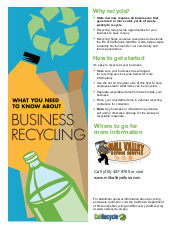 Mill Valley Refuse Business Recycling Flyer