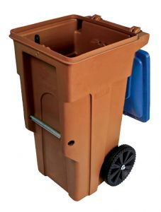 68-Gallon Paper Recycling Cart