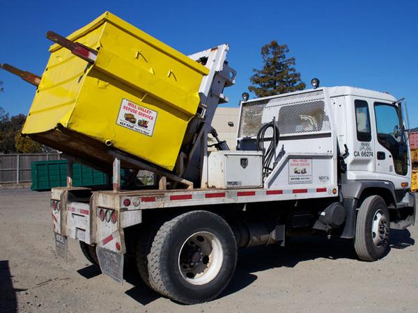 Marin Debris Box Rental Service Truck
