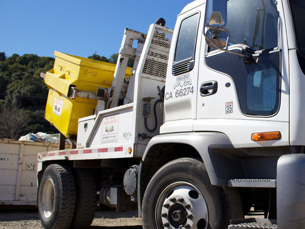 Marin Debris Box Rental Delivery Truck