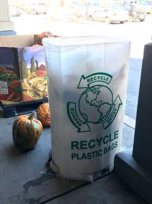 Plastic Bag recycling at your local store
