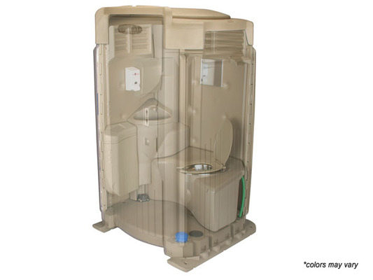 Flushable Portable Toilet Rental - Interior View