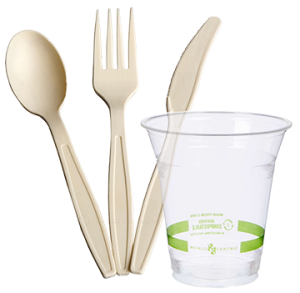 Compostable Utensils and Cups