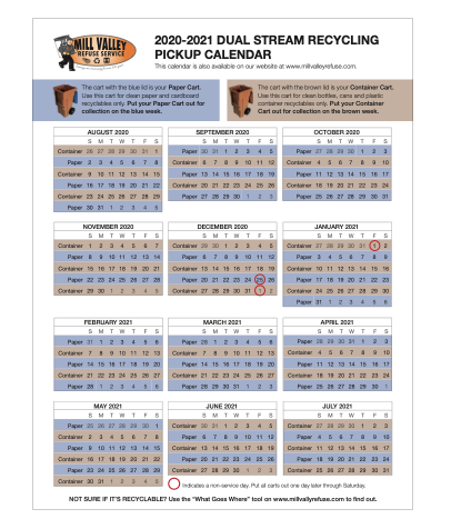 MVRS Dual Stream Recycling Schedule Thumbnail