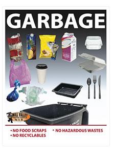 Large Print Garbage Poster English Only