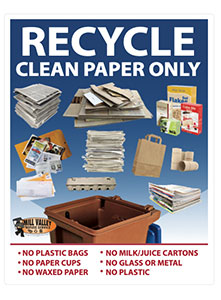 Large Print Recycle Poster English Only