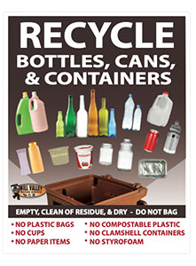 Large Print Recycling Poster